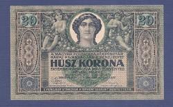 20 Korona 1919 Augusztus 9 EF - aUNC Tanácsköztársaság
