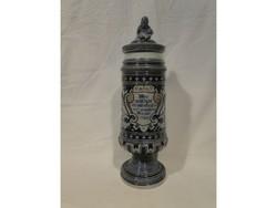A052 Antik régi Nürnbergi korsó fedeles kupa