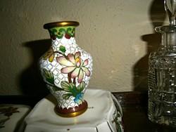 Rekesz (Cloissoné) zománc váza 8 cm