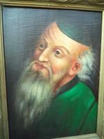 Férfiportré Jelzett antik festmény