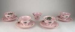 0N914 Antik ROSENTHAL rózsaszín teáskészlet