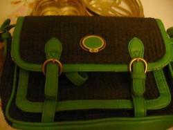 NICA fekete-zöld női táska