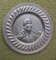 Albrecht Dürer Ón Falikép Falitányér+ Ajándék Ón Kisebb Tányér!
