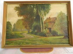 Molnár M.: Tanya jelenet.Olaj festmény.