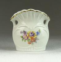 0N693 Jelzett német porcelán ibolyaváza GDR 6 cm