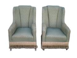 C418 Két darab antik füles fotel