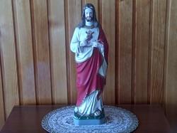 Krisztus szobor festett gipsz 33 cm