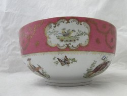 H037 Nagyméretű madaras porcelán asztalközép