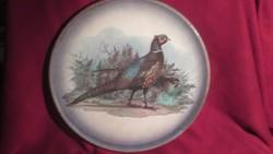 1820 Hatalmas kézzel festett olasz kerámia tortás tál torta tál 33 cm