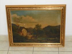 ANTIK szignózott festmény,150 éves