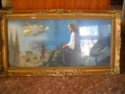 Antik szentkép szép keretben eladó!