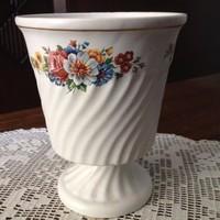 Biszkvit (matt) porcelán kaspó váza -régiség