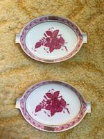 2 darab Herendi hamutál hamutartó HIBÁTLAN Apponyi Purpur mintás - 2 darab