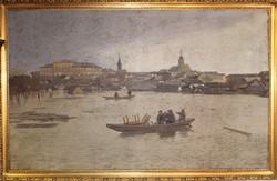 A szegedi nagy árvíz 1879  c. festmény
