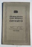 Elemi iskolai értesitő  1917