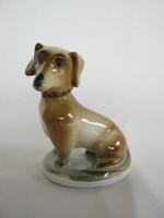 Zsolnay porcelán tacskó kutya