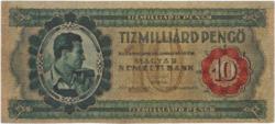 10 milliárd pengő 1946 tervezet replika