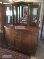 Antik bútor, vitrines tálalószekrény, könyvszekrény.