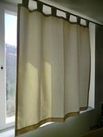 Mindig divatos Ikea stílus nyers vászon függöny vagy falvédő 3 db egyforma sz 115 h 125+10cm fül