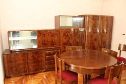 Art deco szekrénysor asztallal székkel komóddal