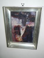 Véghseő Klára : Léda - festmény - Garantáltan eredeti - etikettel