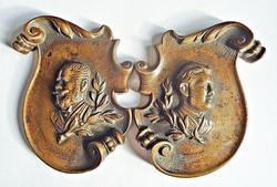 Ferenc József és József főherceg bronzok