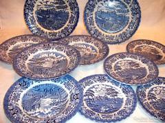 Angol  Old Country fajansz tálalók  és  tányérok