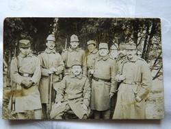1917 Pécsi katonai szakasz fotó lap.
