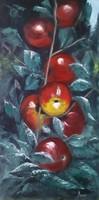 Piros almák című festmény, csendélet