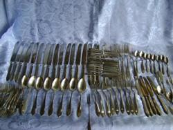 88 db-os art deco antik evőeszköz készlet jelzettek
