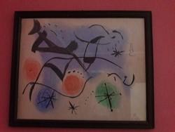 Joan Miró akvarellkép eladó