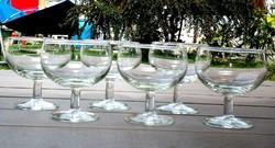 Régebbi talpas üveg pohár 6 db, Martinis vagy mindenes, majdnem
