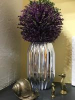 Retro?Geometrikus ezüst színű tükör festésű váza