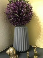 Geometrikus szürke színű matt festésű váza