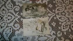 Régi kép, képeslap, emlék fotó - két darab