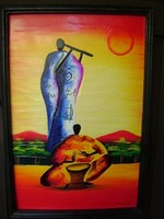 Anna  Margit? szignós olaj festmény  62 x 42 cm