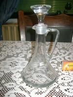 Üveg karaffa, kiöntő -  pálinkás vagy likőrös