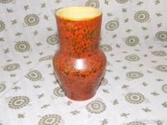 Retro kis Tófej kerámia váza