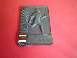 Budapest 1957 sport plakett