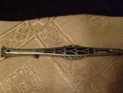 Antik ezüstözött lornyon szár zománc berakással