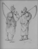 Böhm Pál tollrajz