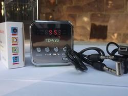 Mini mp3 +Fm rádió beép.hangszóró 5x5 cm