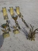 Réz tárgyak, réz fogas, réz gyertyatartók, réz cilinderek, iparművész által készített eladó.