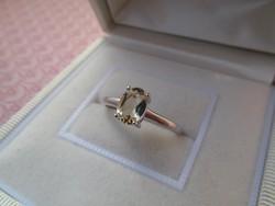 Valódi citrin köves ezüst gyűrű.