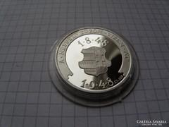Petőfi színezüst centenárium érme. 0,925 ag. RRRR!.(10)
