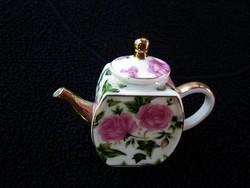 Angol rózsás teakiöntő babaházba