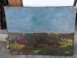 Antik impresszioniszmus  olaj vaszon festett taj festmeny