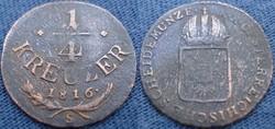 I. Ferenc 1/4 kreuzer   1816 s