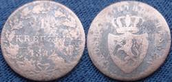 Német 1 kreuzer   1842  Ag ezüst