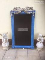 Provence bútor, antikolt Faragott tükörkeret, ártábla.
